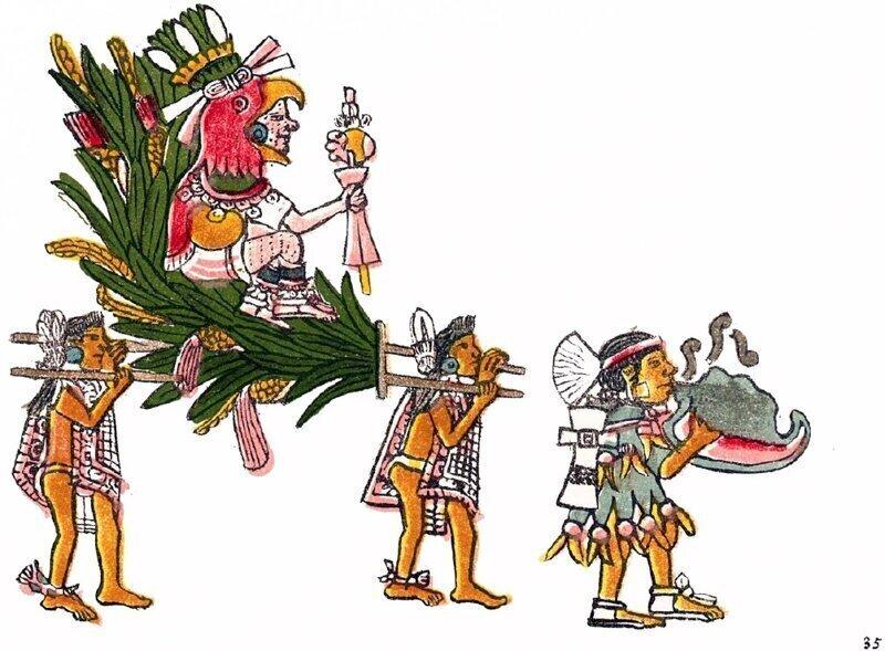 Правители ацтеков не могли ходить по земле