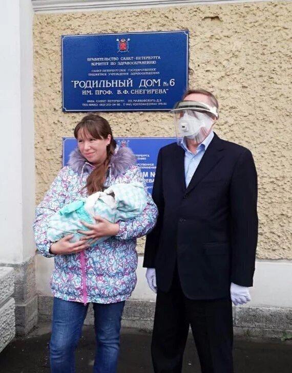 Памятное фото с губернатором Петербурга