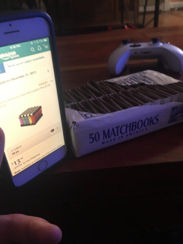Я заказывал 50 зажигалок, а не спички