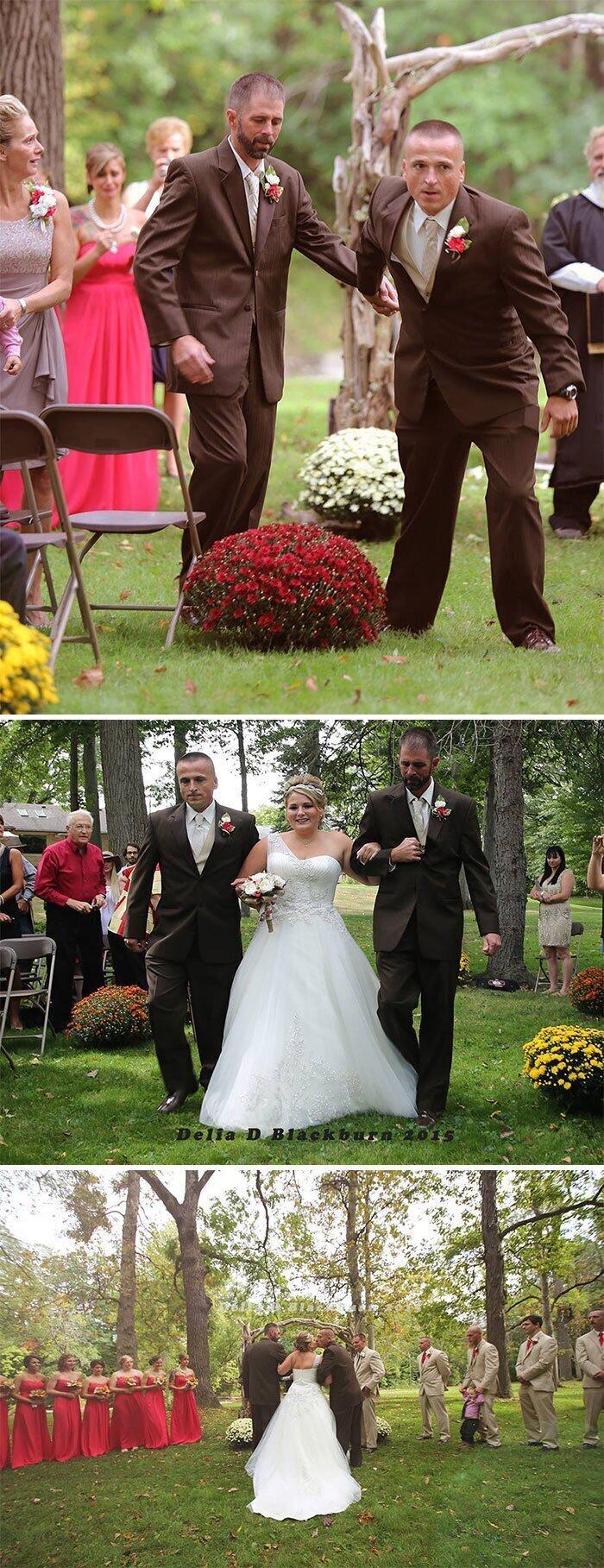 """""""Отец невесты решил, что вести ее под венец он должен не один, а вместе с воспитавшим ее отчимом"""""""