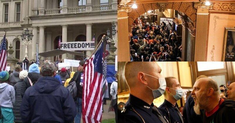 В Мичигане вооруженные жители устроили демонстрацию против продления режима самоизоляции