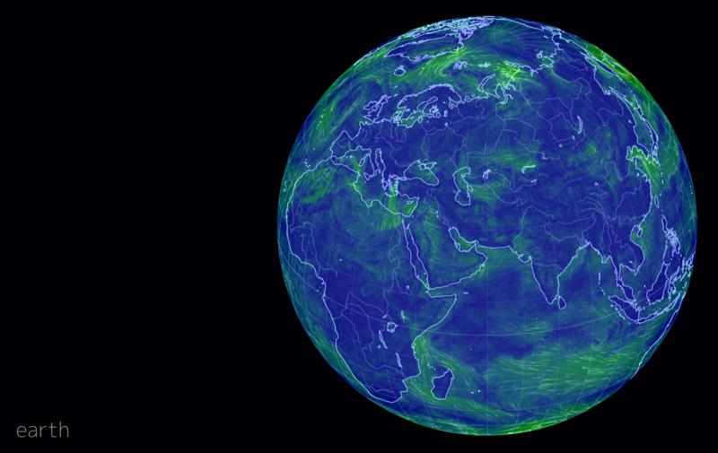 Здесь можно увидеть все ветра, течения, уровень загрязнения воздуха, а также северное сияние в реальном времени