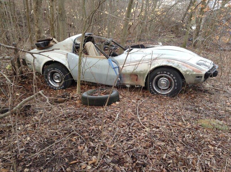 1979 chevy corvette junkyard find