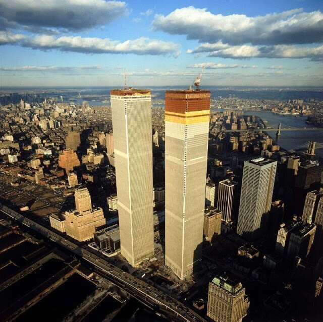 ВТЦ на фоне Манхэттена, 1971