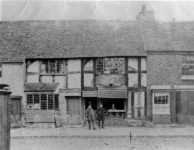 Дом, где родился Шекспир, фото на Стратфорд-на-Эйвоне, 1850 год