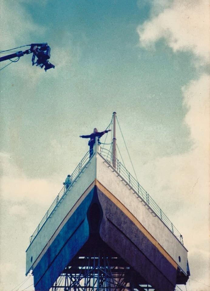 "На съемках фильма ""Титаник"", 1997 год"