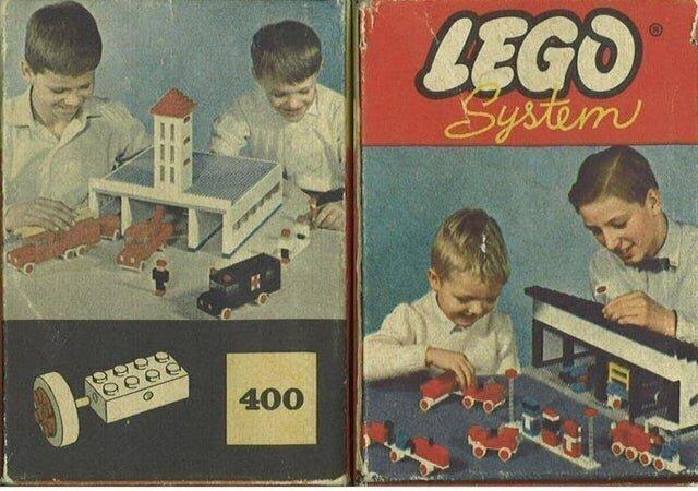 """Самые первые наборы """"Лего"""" с автомобилями, 1961 год"""