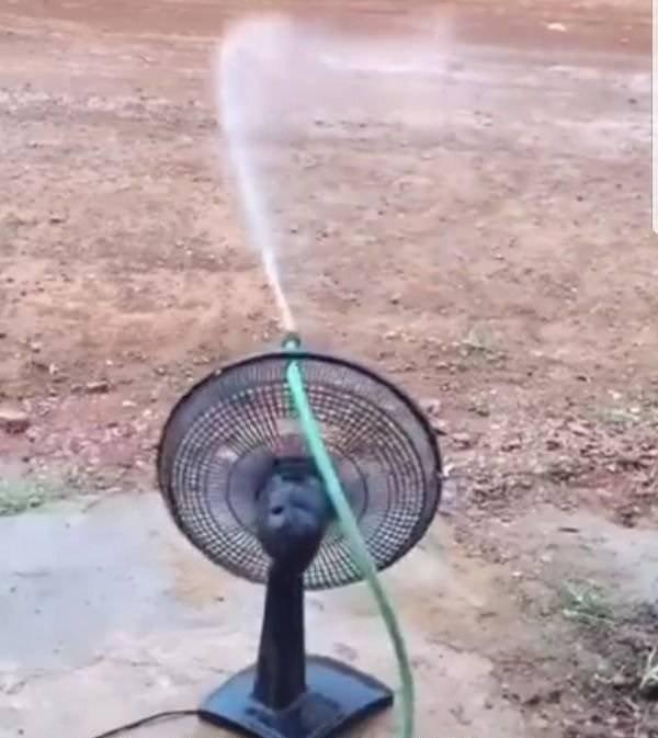 Вентилятор полезен не только внутри дома...