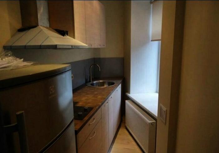 Кухня под острым углом