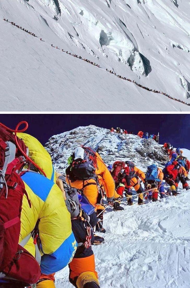 Чтобы покорить гору, нужно сначала дождаться своей очереди
