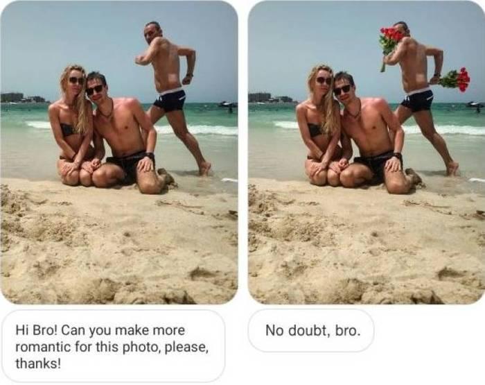 Попросил гуру фотошопа сделать снимок более романтичным