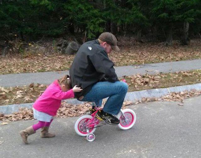 Папа, я не хочу больше катать тебя на велосипеде