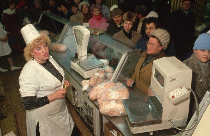 Московский рынок в 1990 году