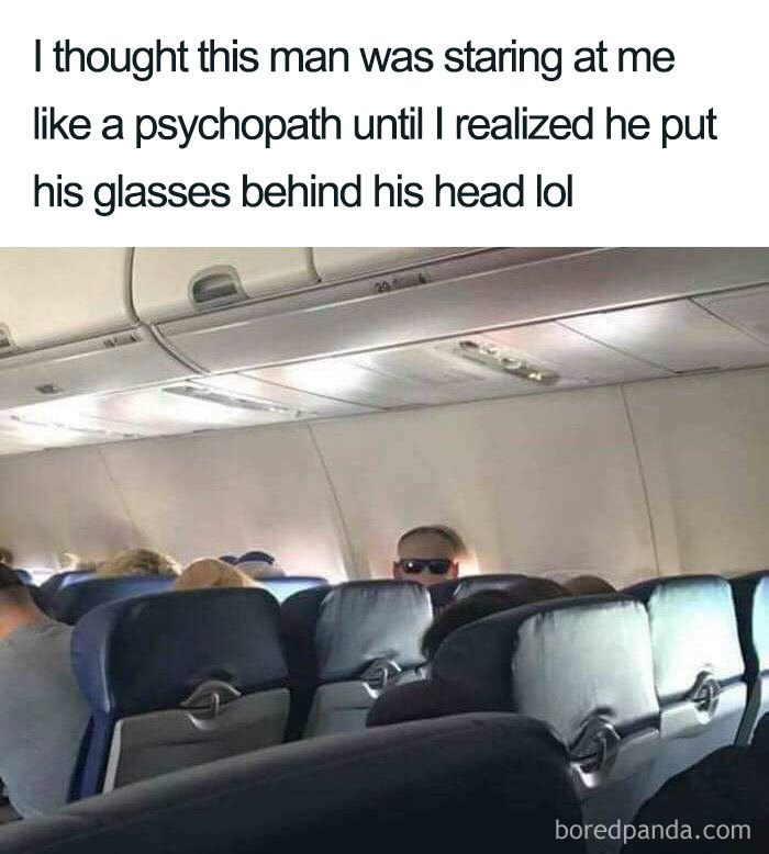 Этот мужик пялился на пассажиров весь рейс