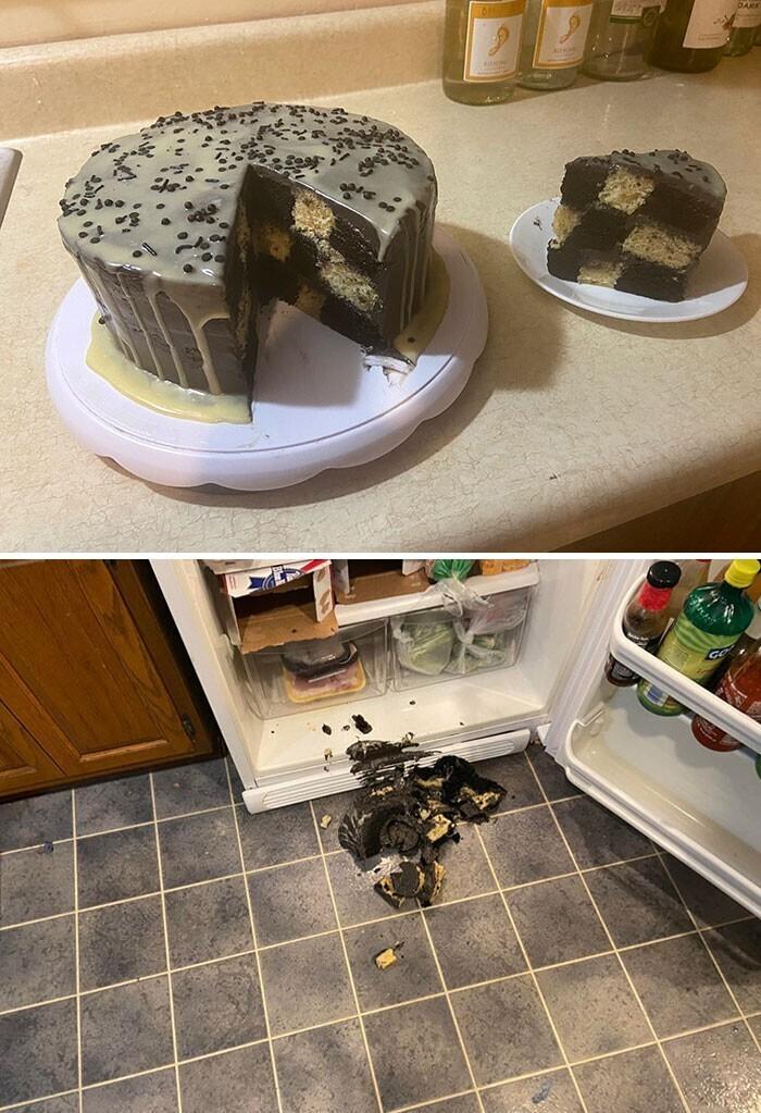 """""""Потратила четыре часа на этот торт. Успела только сфотографировать, а потом сразу уронила"""""""