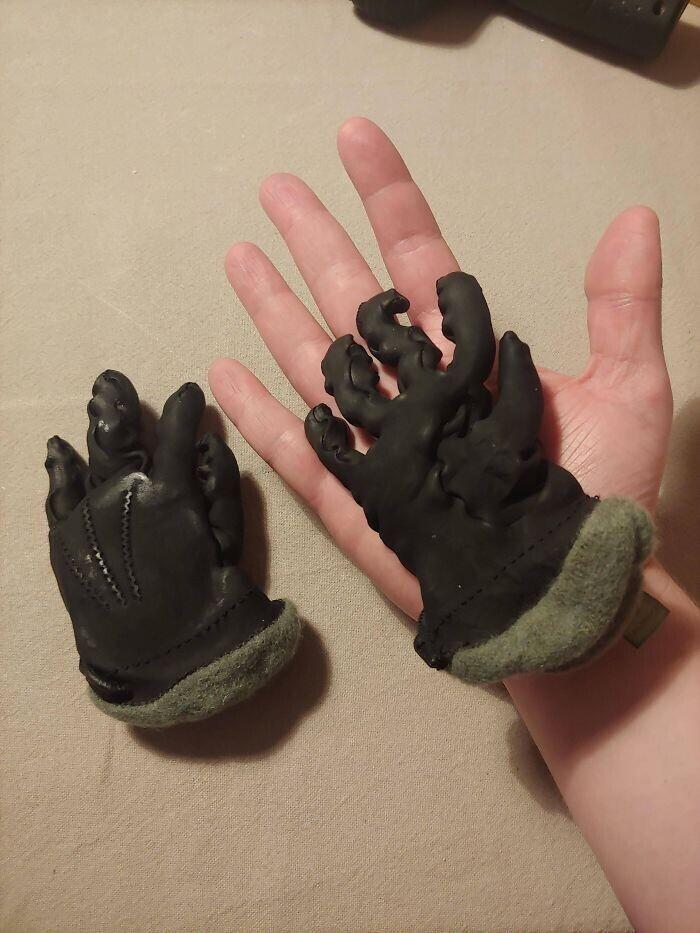 """""""Случайно положила свои кожаные перчатки в стиральную машину"""""""