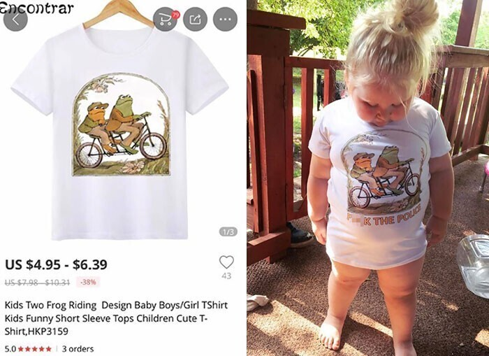 """""""Заказала детскую футболку, получила футболку с надписью """"К черту полицию"""""""