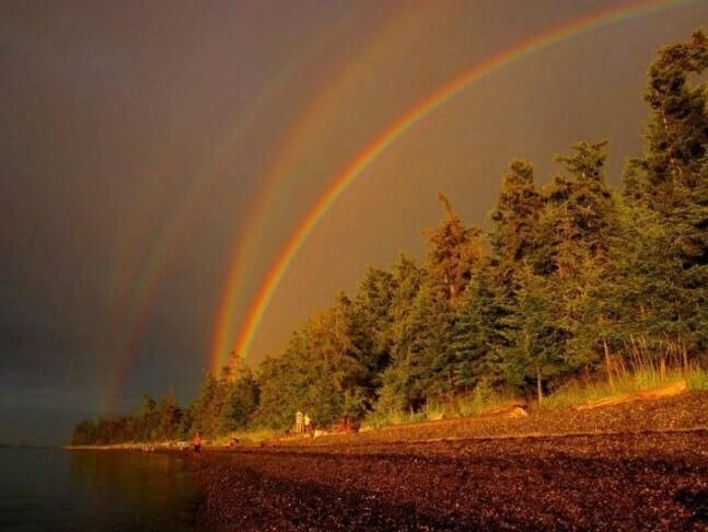 Четыре радуги одновременно