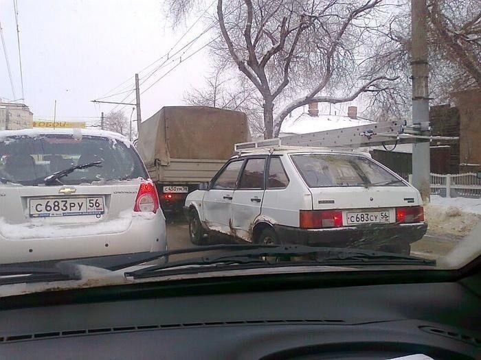 Они всё же встретились на дороге