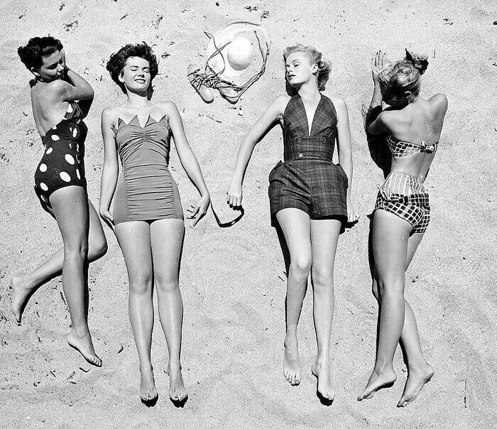 Летняя пляжная одежда, 1950 год