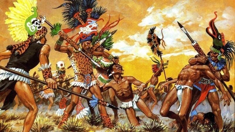 Вместо того, чтобы убивать вражеских солдат, ацтеки предпочитали захватывать их в плен, чтобы потом приносить в жертву богам. Гибель противника на поле боя считалась неуклюжестью воина, который не сумел захватить его живым