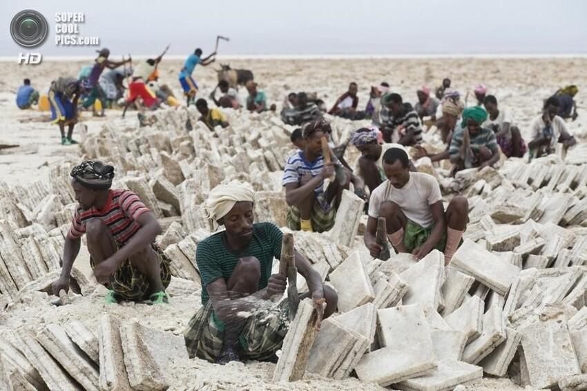 Добыча соли, Африка