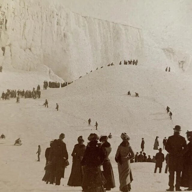 Замерзший Ниагарский водопад, 1902 год