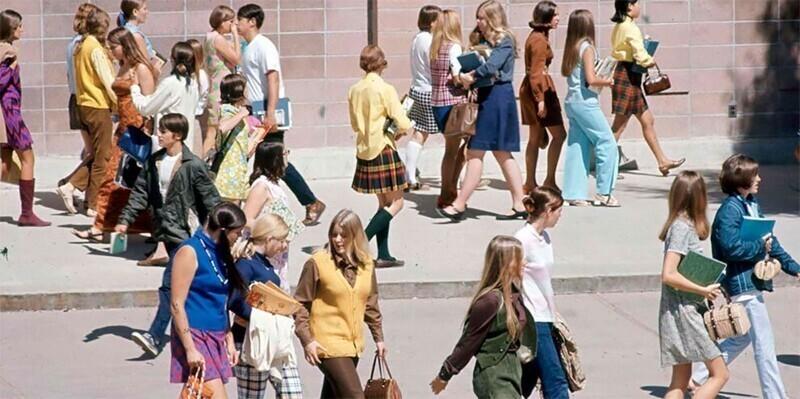 Американские школьницы ХХ века