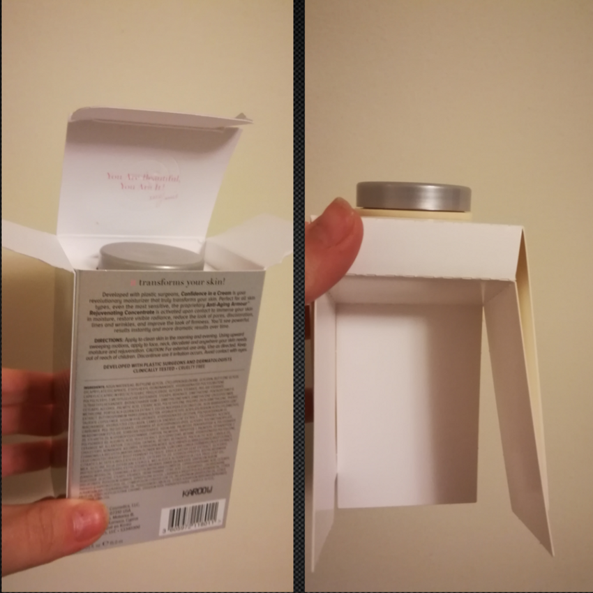 Баночка крема слишком маленькая для такой коробки