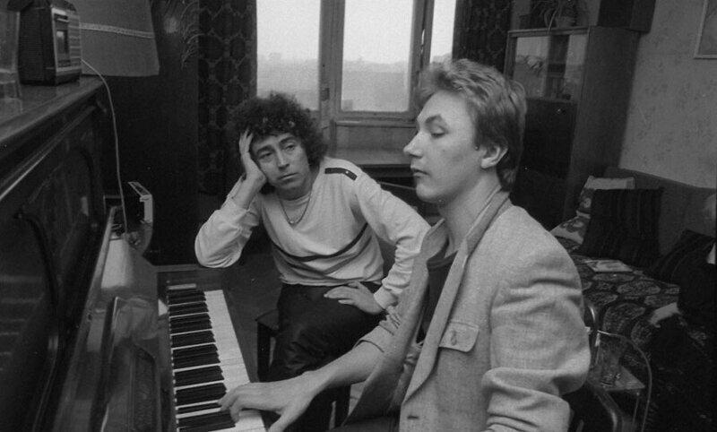 Валерий Леонтьев и Игорь Николаев во время репетиции в 1985 году
