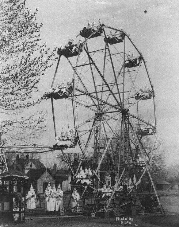 Ку-клукс-клан на ярмарке в Колорадо, 1926 год