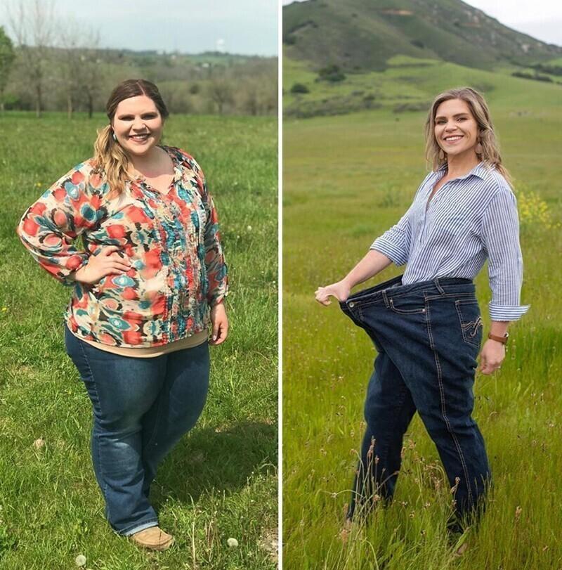 Первые сброшенные килограммы вдохновили ее продолжать эту борьбу