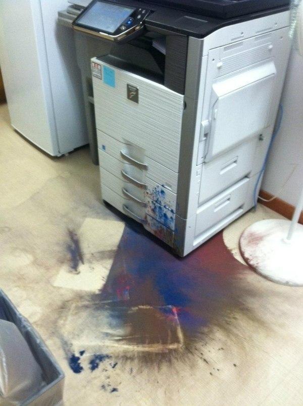 Принтер - довольно странный предмет