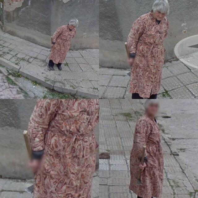 Бабушка вышла на прогулку