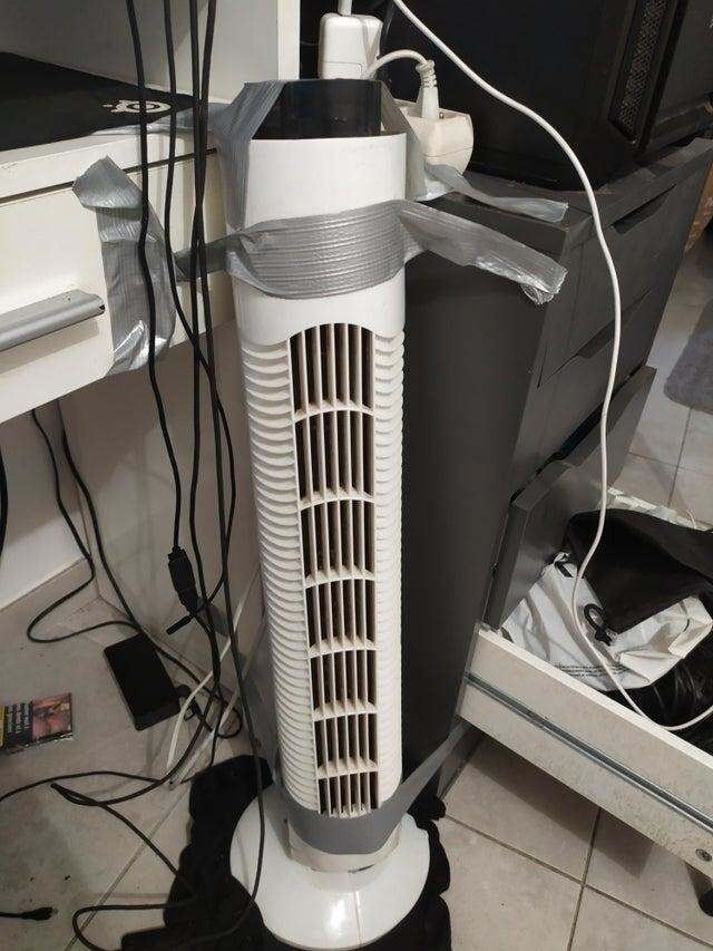 Вентилятор передвигался по комнате
