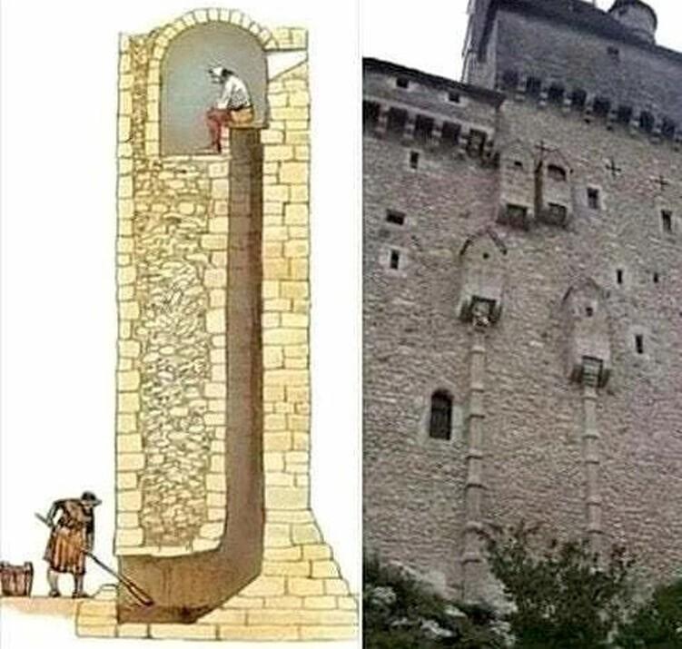 Так выглядит средневековый туалет