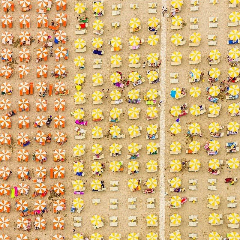 Пляжный узор. Фотограф Бернхард Ланг