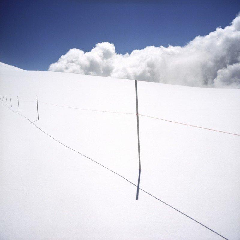 Белая граница. Снег на границе Италии и Швейцарии