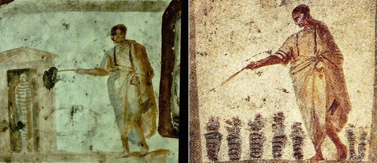 Некоторые ранние изображения Иисуса показывают, что он использует волшебную палочку