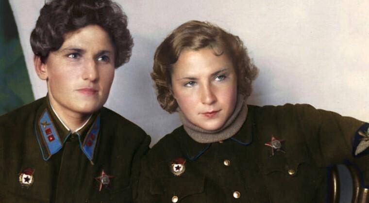 Лучшие подруги Екатерина Буданова и Лидия Литвяк были лучшими летчиками-истребителями Второй мировой войны. Вместе они сбили 23 немецких самолета. Обе погибли в бою