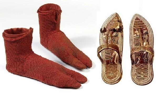 Тутанхамон носил носки с сандалиями