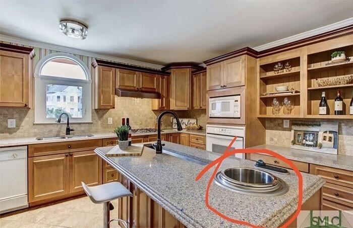 Что за прибор встроен в кухонный стол-остров?