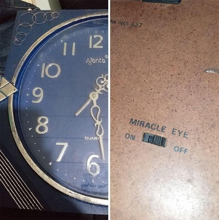 """Переключатель на задней стороне часов с надписью """"Чудо-глаз"""". Что это?"""