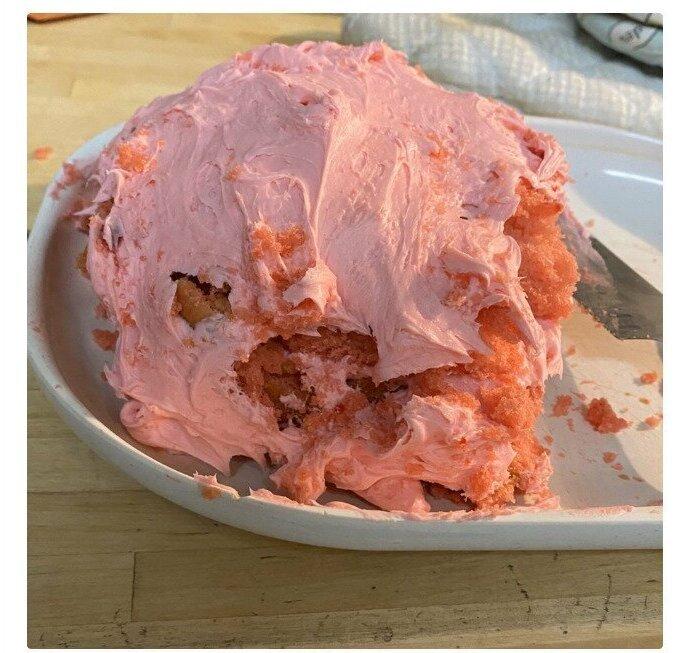 Первый торт комом