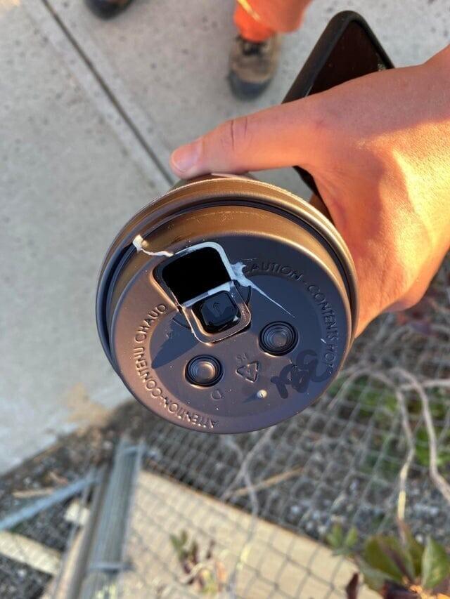 «Этим утром иду на свою первую работу с чашкой свежего кофе. Это не сливки.Это ворона»