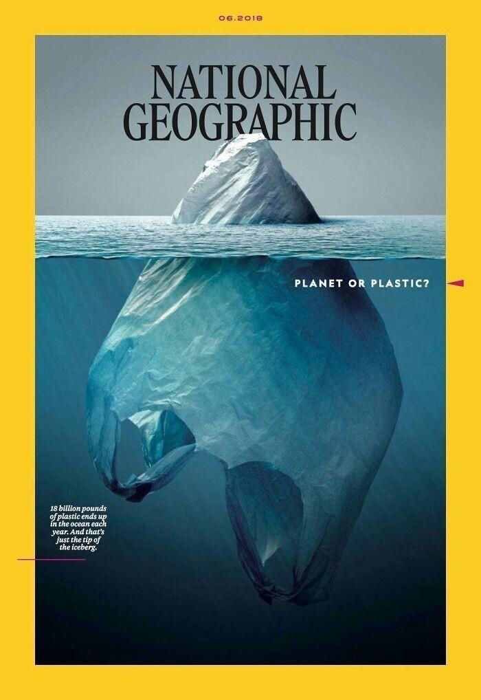 """""""Пластиковая планета?"""": обложка журнала National Geographic"""