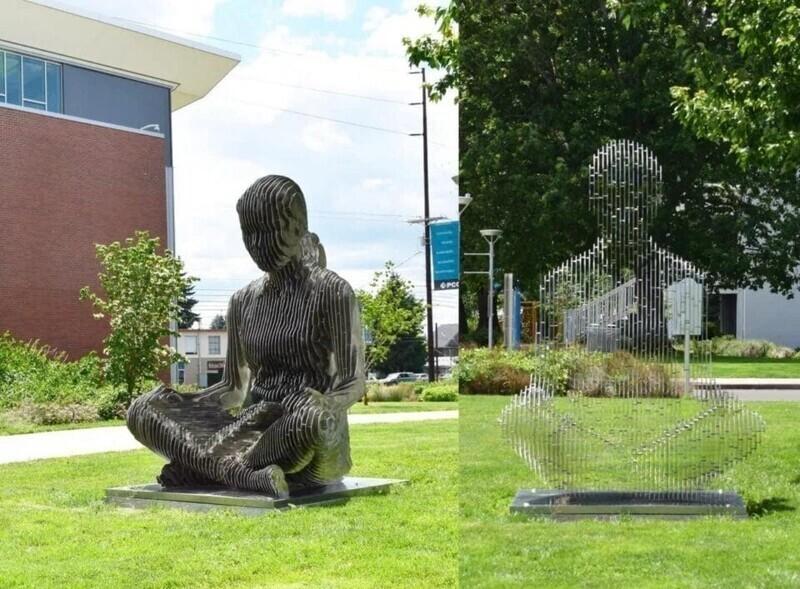 Скульптура, которая исчезает прямо на ваших глазах