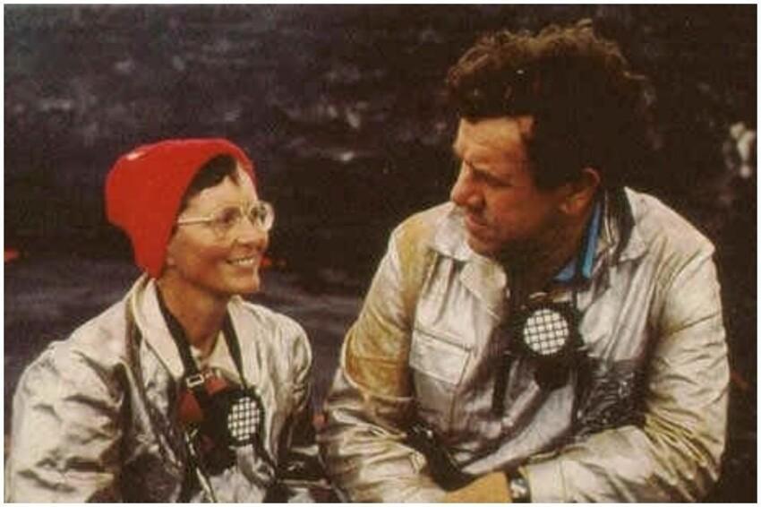 Катя Крафт и её муж Морис Поль Крафт