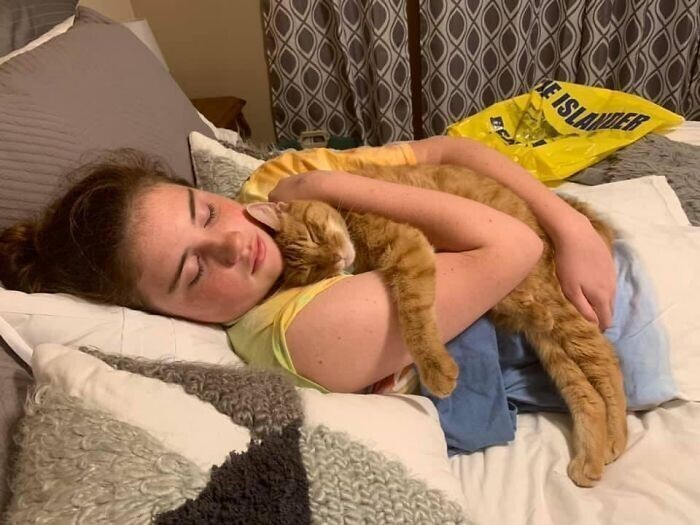 """""""Мы взяли 11-летнюю кошку из приюта. Они с моей дочкой невероятно сроднились"""""""