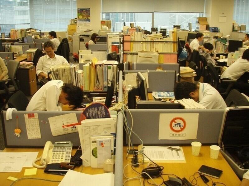 Японец спит, а служба идёт